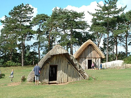 Modern-day reconstruction of an Anglo-Saxon village at West Stow