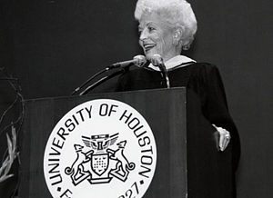 Ann Richards - Richards speaking at a 1992 University of Houston commencement