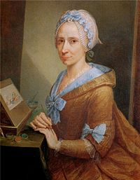 Anna Bacherini Piattoli - Self-portrait in Uffizi Gallery.jpg