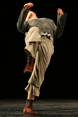 Contemporary dance - A dancer performing a contemporary dance piece