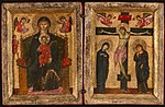 Anonymous - Diptych of the Virgin and Child Enthroned and the Crucifixion - 1933.1035 - Art Institute of Chicago.jpg
