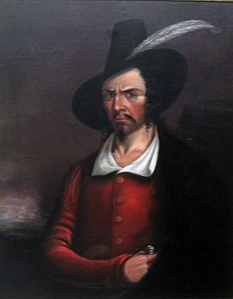 French pirate Jean Lafitte, who operated in New Orleans, was born in Port-au-Prince around 1782. Anonymous portrait of Jean Lafitte, early 19th century, Rosenberg Library, Galveston, Texas.JPG
