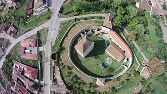 Câlnic Citadel - Aerial view of the citadel