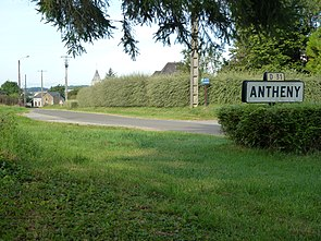 Antheny (Ardennes) city limit sign.JPG