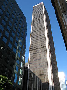 Aon Center (Los Angeles), photo prise de Hope Street.
