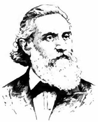 Leopold Damrosch - Portrait drawing of Leopold Damrosch