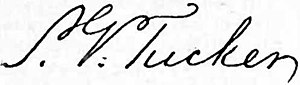 St. George Tucker - Image: Appletons' Tucker Thomas Tudor St. George signature
