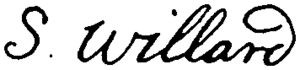 Samuel Willard - Image: Appletons' Willard Simon Samuel signature