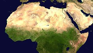 Geography of the Arab League - Aerial View of the Arab world