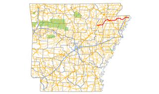 Arkansas Highway 18 highway in Arkansas