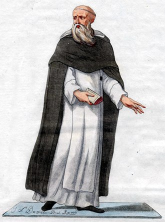 Eastern Christian monasticism - 1779 illustration of a Catholic Armenian monk of the Order of St Gregory the Illuminator, united with and wearing the habit of the Dominican Order.