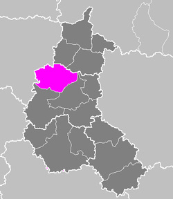 Location of Reims in Champagne-Ardenne