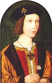 The only original surviving portrait of Prince Arthur