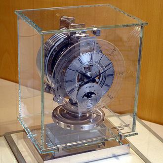 Atmos clock - Jaeger-LeCoultre's Atmos clock on display.
