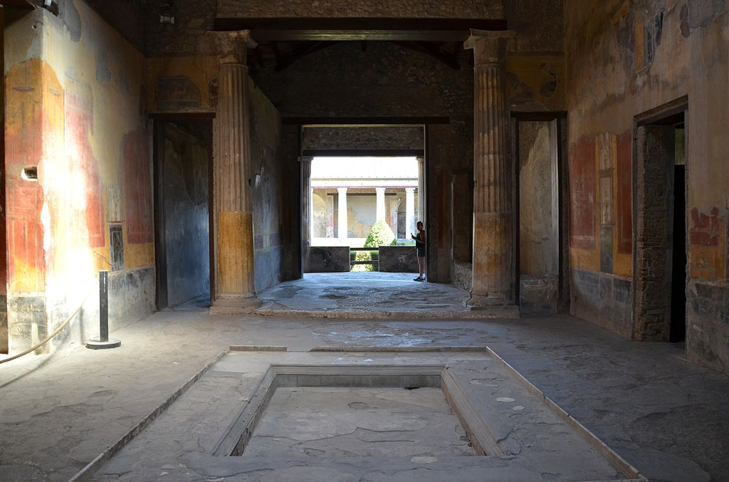 file atrium of the house of the menander reg i pompeii 14978497650 jpg wikimedia commons. Black Bedroom Furniture Sets. Home Design Ideas