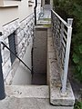 Attila Jozsef Culture House, stairs to cellar, 2016 Dunakeszi.jpg