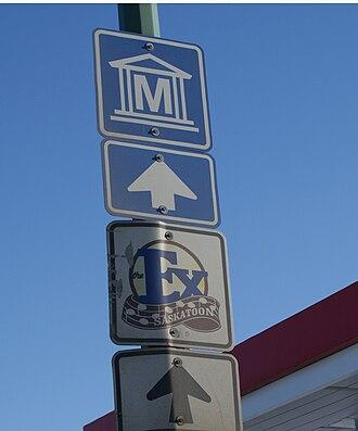Saskatchewan Highway 14 - Image: Attractions Signage