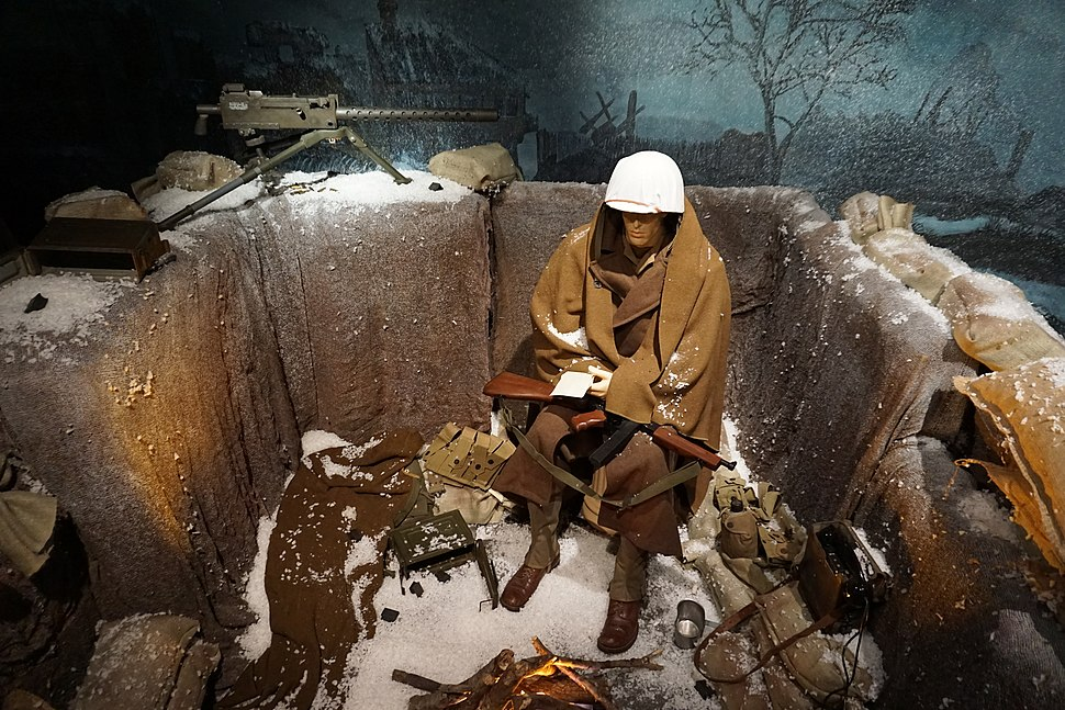 Audie Murphy American Cotton Museum July 2015 43 (Battle of the Bulge diorama)