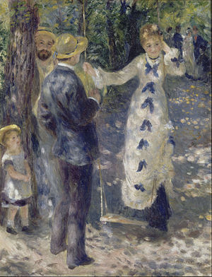 Pierre-Auguste Renoir - The Swing (La Balançoire), 1876, oil on canvas, Musée d'Orsay, Paris