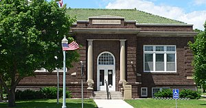 National Register of Historic Places listings in Webster County, Nebraska - Image: Auld Library from E