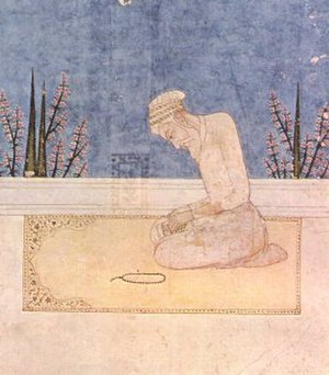 Aqidah - The Mughal emperor Aurangzeb performing Salat.