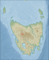 Australia tasmania relief location map Pelion.png