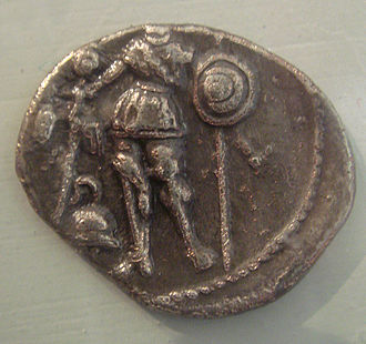 Arverni - Arverni coin depicting a warrior, 5th-1st century BCE.
