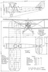 Avro 631 Cadet 3-view NACA-AC-161.png