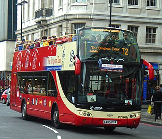 Open top buses in the United Kingdom - The Original Tour Ayats Bravo City bodied Volvo B7L in October 2007