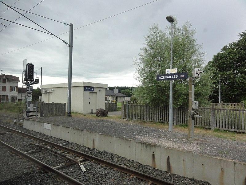 Azerailles (M-et-M) la gare