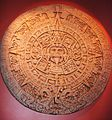 Aztec Sun stone depicting their concept of the universe.JPG