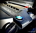 BMW Emblem on Engine - 2013 BMW X5 xdrive 35i (9712368076).jpg