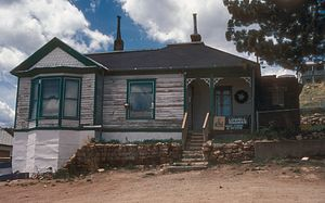 Lowell Thomas -  Thomas' boyhood home in Victor, Colorado