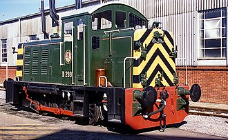 British Rail Class 07 - D2991 (07007) at Eastleigh Works in 1994