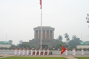 Ho Chi Minh Mausoleum at Ba Dinh Square.
