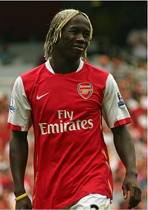 Bacary Sagna of Arsenal.