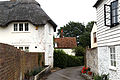 Back lane houses north of Barfrestone church Kent England.jpg