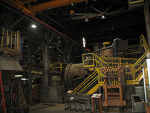 Ball mill - A ball mill inside the Mayflower Mill near Silverton, Colorado.