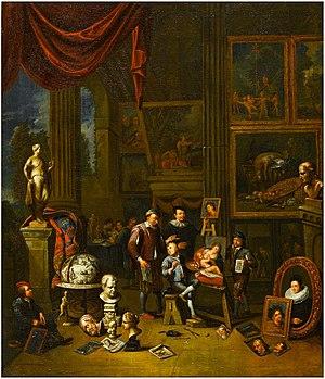 Balthasar van den Bossche - An artist's studio