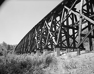Baltimore & Ohio Railroad Bridge, Antietam Creek - Image: Baltimore & Ohio Railroad, Long Bridge, Keedysville vicinity (Washington County, Maryland)