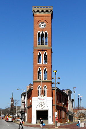 Engine House No. 6 (Baltimore, Maryland) - Fire station tower