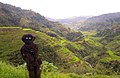 Banaue Rice Terraces and its statue friend.JPG
