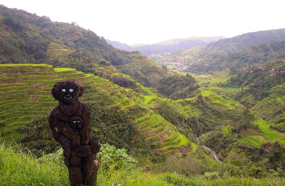 Banaue Rice Terraces and its statue friend
