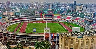 Bangabandhu National Stadium - BBNS aerial view