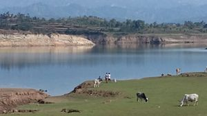 Ranjit Sagar Dam - BankThein Dam lake