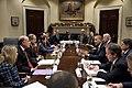 Barack Obama and Joe Biden with business leaders in the Roosevelt Room.jpg