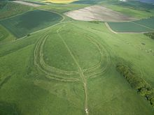 Barbury Castle Aerial View