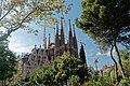 Barcelona - Plaça de Gaudí - View SW on La Sagrada Família - Nativity façade I.jpg