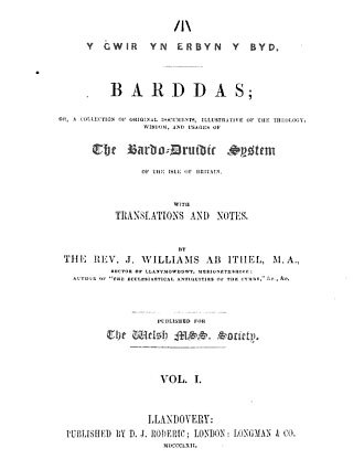 Barddas - Barddas - Title page