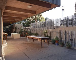 Barnsdall Art Park - Outdoor work area and patio